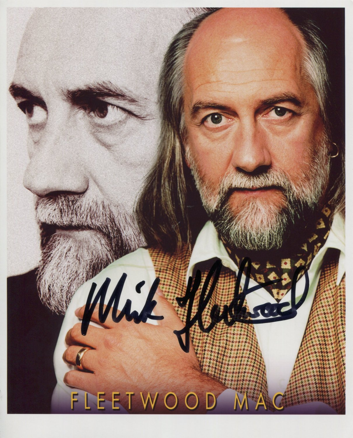"""Mick Fleetwood Mac SIGNED 8"""" x 10"""" Photo + Certificate Of Authentication 100% Genuine"""