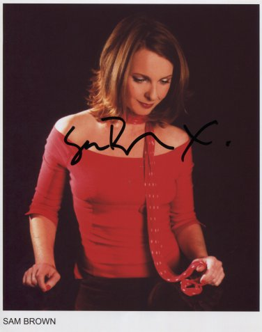 "Sam Brown SIGNED 8"" x 10"" Photo + Certificate Of Authentication 100% Genuine"