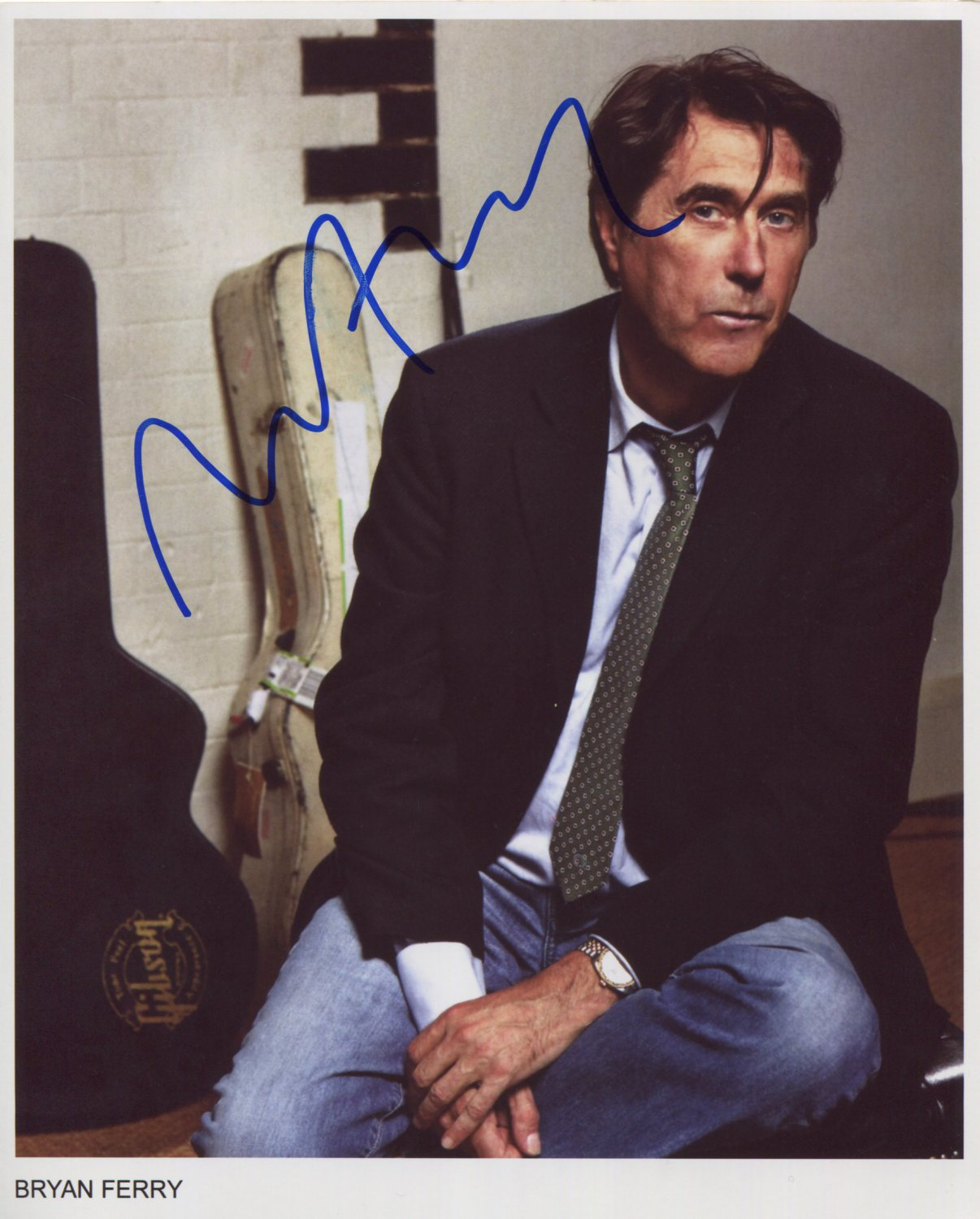 """Bryan Ferry SIGNED 8"""" x 10"""" Photo + Certificate Of Authentication 100% Genuine"""