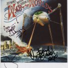 War Of The Worlds Jeff Wayne + 2 SIGNED Photo + Certificate Of Authentication 100% Genuine