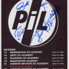 Public Image Ltd FULLY  SIGNED Photo + Certificate Of Authentication 100% Genuine
