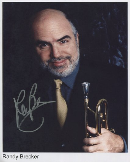"Randy Brecker SIGNED 8"" x 10"" Photo + Certificate Of Authentication 100% Genuine"