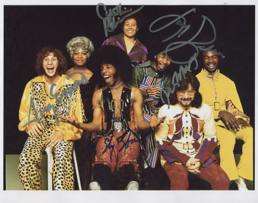 """Sly & The Family Stone SIGNED 8"""" x 10"""" Photo + Certificate Of Authentication 100% Genuine"""