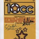 10cc Graham Goulden Lol Creme SIGNED Photo + Certificate Of Authentication  100% Genuine