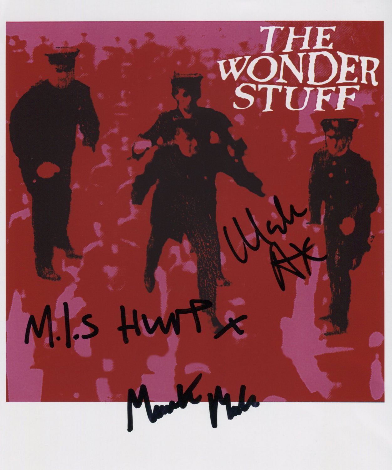 """The Wonder Stuff SIGNED 8"""" x 10"""" Photo + Certificate Of Authentication 100% Genuine"""