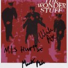 "The Wonder Stuff SIGNED 8"" x 10"" Photo + Certificate Of Authentication 100% Genuine"