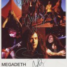 Megadeth FULLY SIGNED Photo + Certificate Of Authentication  100% Genuine