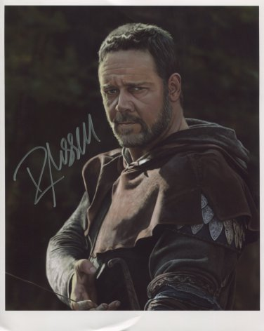 "Russell Crowe SIGNED 8"" x 10"" Photo + Certificate Of Authentication  100% Genuine"