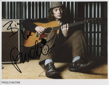 """Paolo Nutini SIGNED 8"""" x 10"""" Photo + Certificate Of Authentication  100% Genuine"""