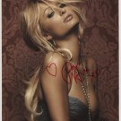 "Paris Hilton SIGNED 8"" x 10"" Photo + Certificate Of Authentication  100% Genuine"