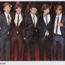 "One Direction FULLY SIGNED 8"" x 10"" Photo + Certificate Of Authentication 100% Genuine"