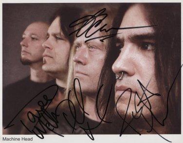 "Machine Head (Band) Rob Flynn FULLY SIGNED 8"" x 10"" Photo COA 100% Genuine"