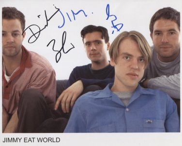 "Jimmy Eat World FULLY SIGNED 8"" x 10"" Photo + Certificate Of Authentication  100% Genuine"
