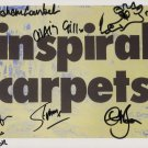 Inspiral Carpets (Band) FULLY SIGNED Photo + Certificate Of Authentication 100% Genuine