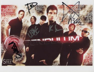 Pendulum FULLY SIGNED Photo + Cetificate Of Authentication  100% Genuine