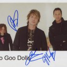 "The Goo Goo Dolls FULLY SIGNED 8"" x 10"" Photo + Certificate Of Authentication  100% Genuine"