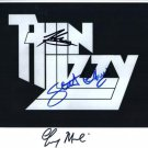 Thin Lizzy  Gary Moore + 2 SIGNED  Photo + Certificate Of Authentication  100% Genuine