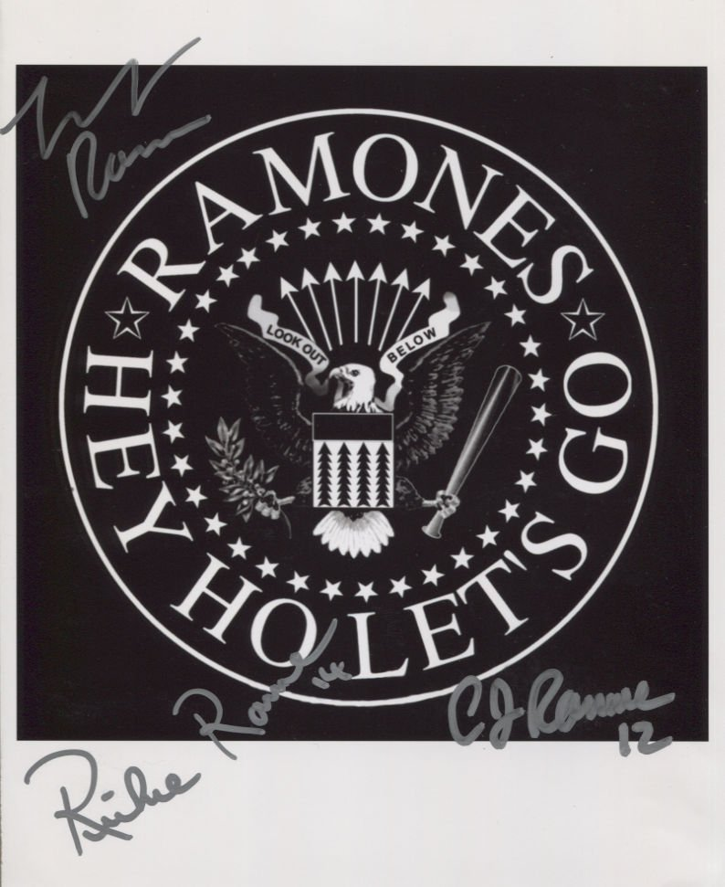 The Ramones Richie CJ Marky SIGNED Photo + Certificate Of Authentication  100% Genuine