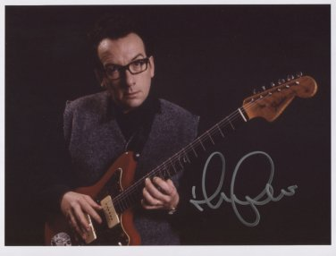 Elvis Costello SIGNED Photo + Certificate Of Authentication 100% Genuine