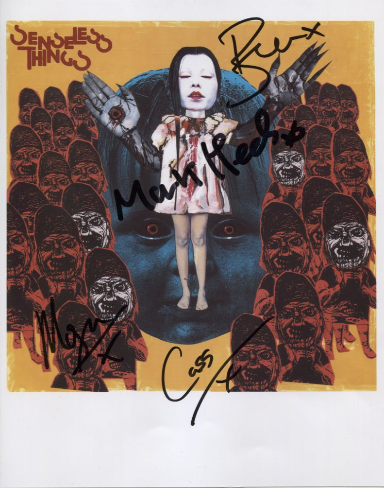 The Senseless Things (Band) FULLY SIGNED Photo + Certificate Of Authentication 100% Genuine