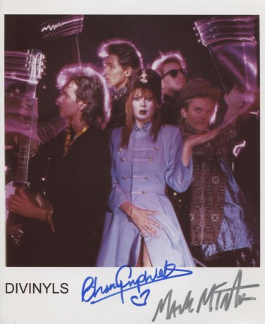 Divinyls Christina Amphlett Mark McEntee SIGNED Photo + Certificate Of Authentication  100% Genuine