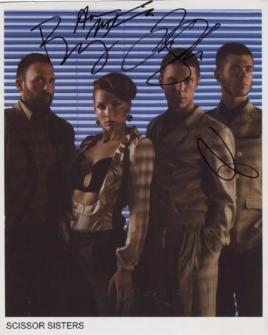 """Scissor Sisters (Band) SIGNED 8"""" x 10"""" Photo + Certificate Of Authentication  100% Genuine"""