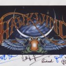 "Hawkwind (Band) SIGNED 8"" x 10"" Photo + Certificate Of Authentication  100% Genuine"