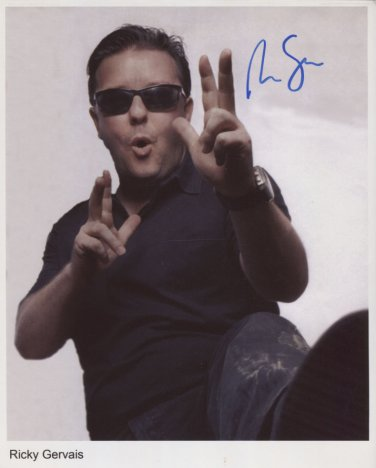 Ricky Gervais SIGNED Photo + Certificate Of Authentication 100% Genuine