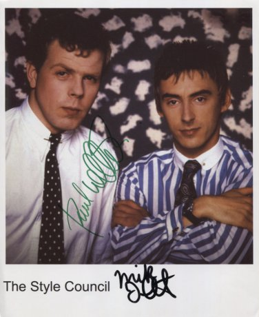 The Style Council Paul Weller Mick Talbot SIGNED Photo + Certificate Of Authentication  100% Genuine