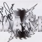 W.A.S.P. (Band) WASP Blackie Lawless + 1 SIGNED Photo + Certificate Of Authentication 100% Genuine