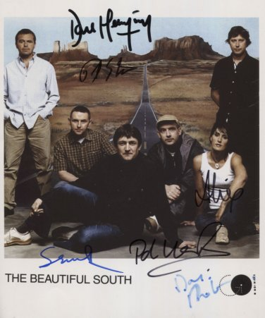 The Beautiful South SIGNED Photo + Certificate Of Authentication  100% Genuine
