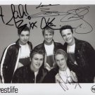 Westlife Incl. Brian McFadden FULLY SIGNED Photo + Certificate Of Authentication 100% Genuine
