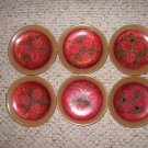BEAUTIFUL VINTAGE JAPANESE HAND-PAINTED LACQUER PLATES-1945