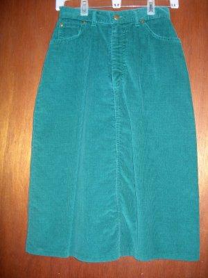 Size 6 Green corduroy LL Bean skirt - NWOT