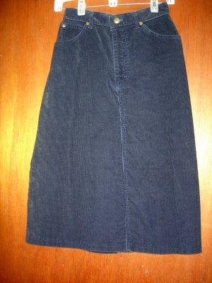 Size 6 Navy blue corduroy LL Bean skirt  - NWOT
