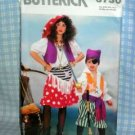 Girl and Boy Pirate Halloween Costume Pattern Butterick 6730