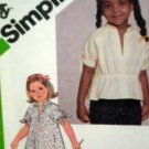 Child Sz 5 'Jiffy' Pullover Dress or Top USED Simplicity Pattern 9884