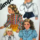 Child Sz 5 Blouse USED Pattern Simplicity 5675