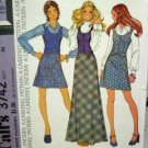 Misses Size 12 Vest and Skirt McCall's 3742