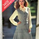Misses (14-16-18) UNUSED Vest and Skirt Pattern Butterick 3405