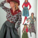 Misses' Sz 12 Western Theme Skirt/Shirt/and Lined Vest UNUSED Simplicity 7601