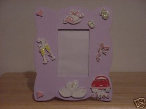 PURPLE WOODEN WEDDING MEMORY PHOTO FRAME