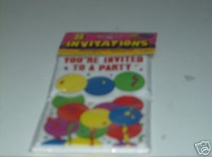 YOU'RE INVITED TO A PARTY INVITATIONS WITH BALLOONS