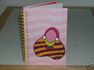 BRAND NEW COLORFUL NOTE PAD BOOK WITH PURSE DESIGN