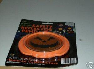 BRAND NEW SAFETY REFLECTOR PUMPKIN PENDANT