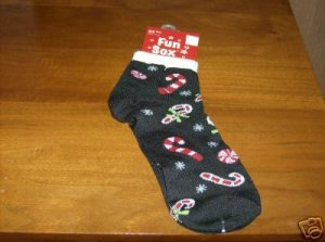 BRAND NEW CUTE CHRISTMAS CANDY CANE SOCKS