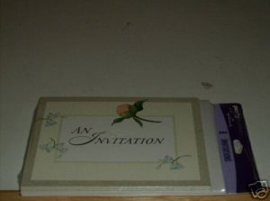 AN INVITATION WITH PRETTY PINK FLOWER