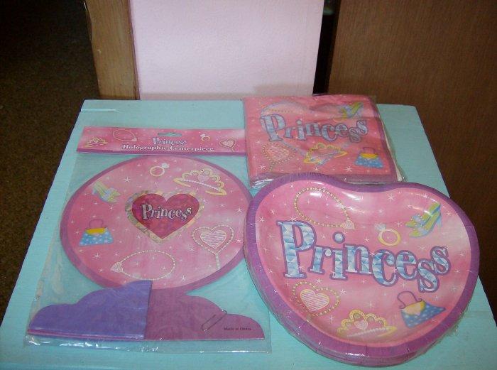 BRAND NEW PRINCESS BIRTHDAY CENTERPIECE PAPER PLATES & NAPKINS