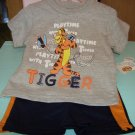 BRAND NEW BABY DISNEY TWO PIECE TIGGER 3-6 M OUTFIT