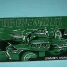 68 CHEVROLET ORIGINAL OWNER&#39;S MANUAL